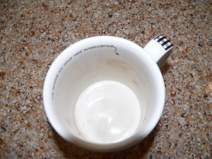 Coffee Mug with Stains