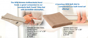 NEW Bath Mat & Antibac Hand Towel