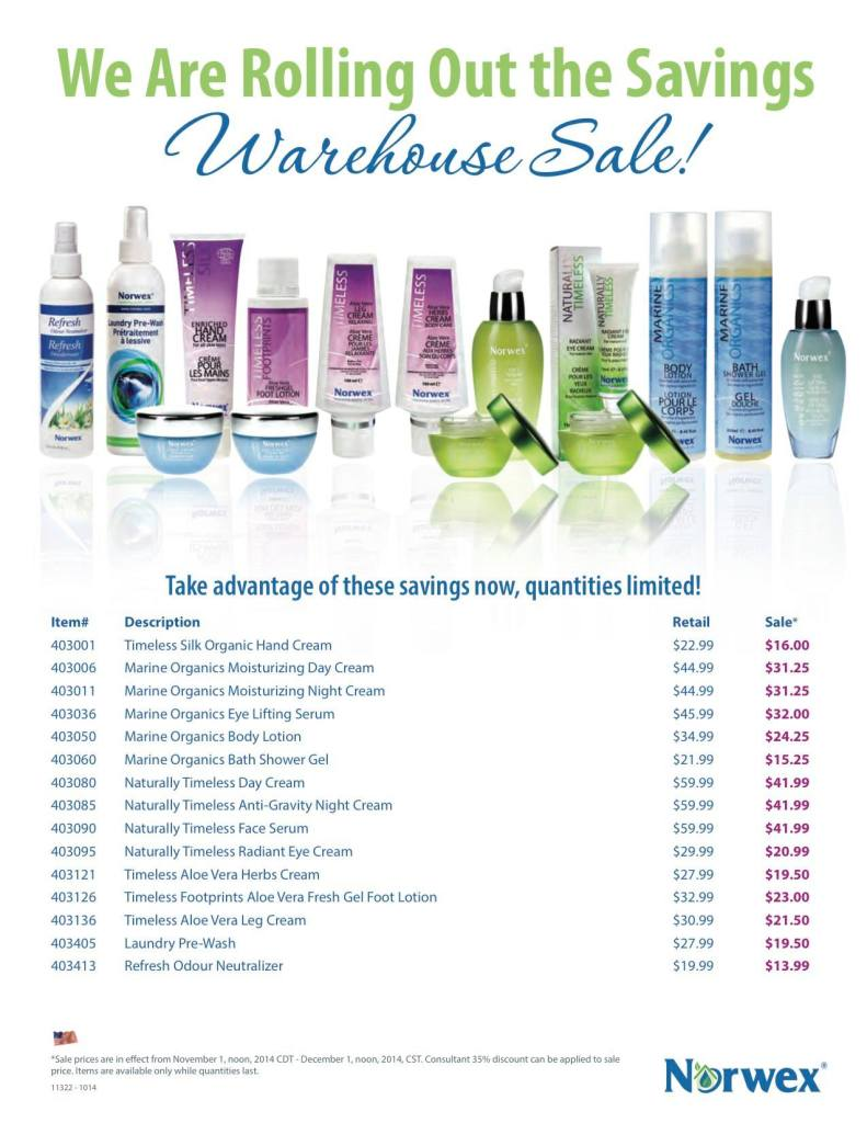 Norwex Warehouse Sale Nov 2014