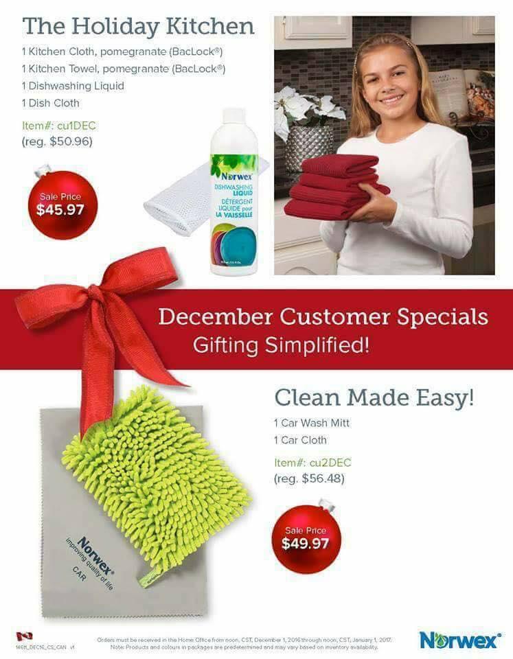 December 2016 Customer Specials