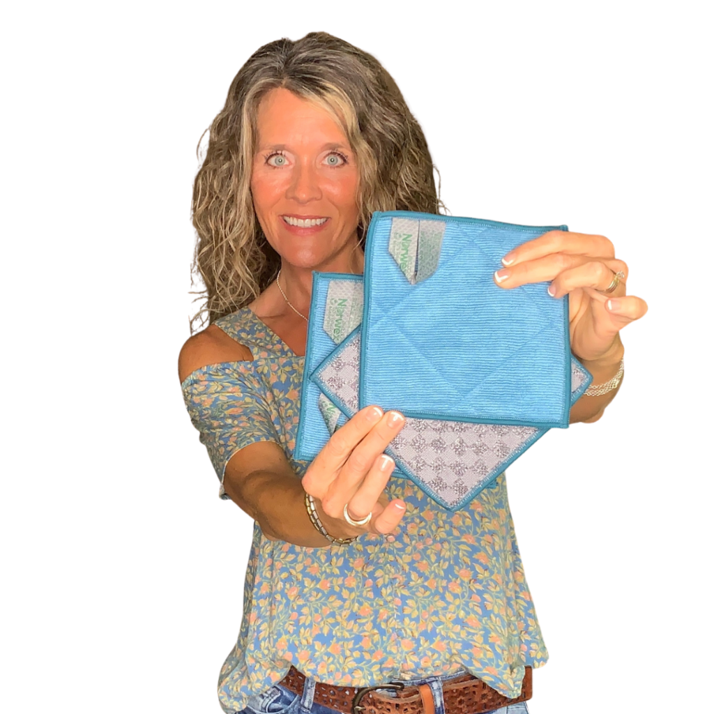 EnviroScrubs are Teal on one side, with Graphite on the back! Norwex Color Options!