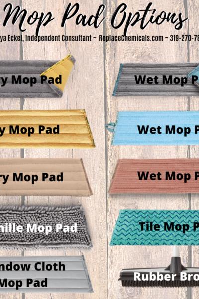 Norwex Mop Pad Options